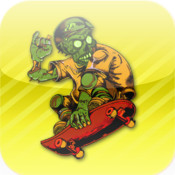 HD Zombie Skateboarder High School - Life On The Run Surviving The Fire - For Kids!