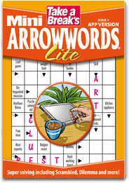 Take a Break`s Mini Arrowwords Lite magazine