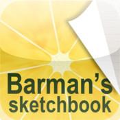 barman cocktails sketchbook 2