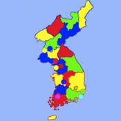 Korean Peninsula puzzle map