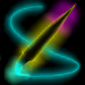Glow Paint - draw/paint/doodle with glowing neon light