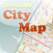 Detroit Offline City Map with POI