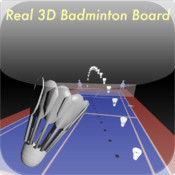 Real 3D badminton board