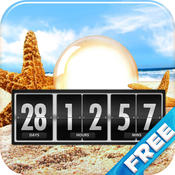 Holiday and Vacation Countdown Widget Free Version- Digital Event Count Down Timer (for counting how many days and time to go, until your traveling days!) - iOS7 optimized