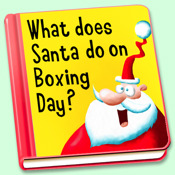pocket story - What does Santa do on Boxing Day? day dragon story