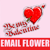 A Flower Email - Deliver Virtual Flowers Instantly via Email for Valentine`s Day email newsletter template