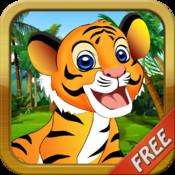 Baby Tiger Run FREE - Addictive Animal Running Game