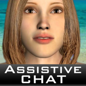 Assistive Chat :D - Chat with Virtual Friends at the Beach! AAC vid chat