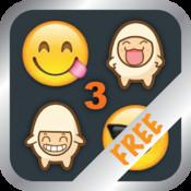 Emoji 3 Emoticons - ( Support WhatsApp, LINE, WeChat, Messages, Facebook & Twitter ) - Free