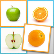 Learning Game - Little Matchups Fruits