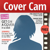 Cover Cam - get on the cover of a popular magazine using your camera! Forbes, Cosmopolitan, Vogue, etc. are waiting for you! dvd movie cover