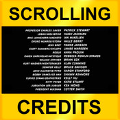 Scrolling Credits - Use with iMovies to Scroll Text in Your Movies scrolling text ticker