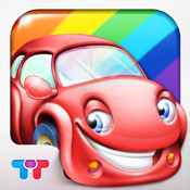 Rainbow Cars - Kids Learn COLORS through Fun Games