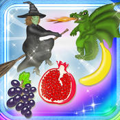 123 Learn Fruits Magical Kingdom - Jumping Fruits Learning Experience Food Game