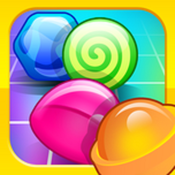 Candy Land Rush! Sweet Sugar Town Matching Puzzle Game