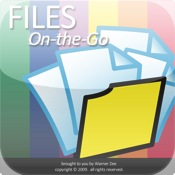 Files On-the-Go - Save files, organize into folders, email as attachments, view using web browser, supports any file type (pdf, doc, xls, gif, png, jpg, zip, etc.) erase files