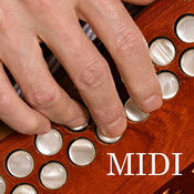 MIDI Melodeon - Button Accordion Wireless MIDI Control Surface midi mixer