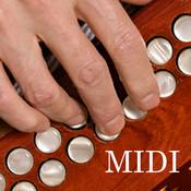 MIDI Melodeon - Button Accordion Wireless MIDI Control Surface midi mixer