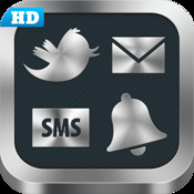 Sounds HD for sms/text messages, email, Tweeter and many other stuff