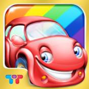Regenbogenautos - Kindern lernen mit fröhlichen Spielen FARBEN