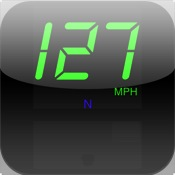 JustSpeed large GPS speedometer display with max speed & course even just one