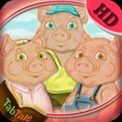 Three Little Pigs - An Interactive Children`s Story Book HD