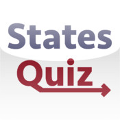 States Quiz - Trivia Game with Flashcards for United States of America States, Border Shapes, and Capitals