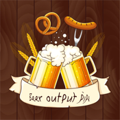 Beer output pipe