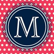 Monogram HD Wallpaper Creator for iOS 8