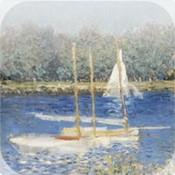 ART slide Puzzle Monet seashore boats painting Puzzles