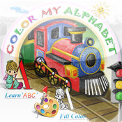 Color My Alphabet - Print Coloring Worksheets - Free free fraction worksheets