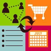 "Family Organizer: Shared Calendar+ToDo+Grocery List+Google Calendarâ""¢ Sync+Chat"