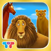 Zootiere Interaktive Lernkarten – Lernspiel für Kinder in HD mit wilden Dschungeltieren, Bauernhoftieren und Tiergeräuschen