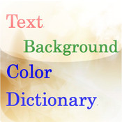 Text Background Color Dictionary (English) color