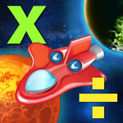 Space Mathematics: Multiplication and Division. Educational game for kids
