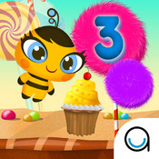 Learn to Count Candy 123 on the Number line - Math Classroom Practice for Baby boys and Baby girls in Preschool, Montessori and Kindergarten FREE