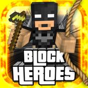 BLOCK HEROES - MC Pixel Hero Mini Survival Shooter Block Game with Multiplayer h r block mobile