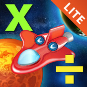 Space Mathematics: Multiplication and Division — Lite. Educational game for kids