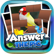 Answers The Pics : Bird Trivia Pictures Puzzles Games