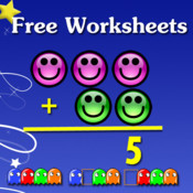 Free Kindergarten math worksheets free fraction worksheets
