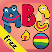 Letters jigsaw for toddlers (first good app to learn letters with words sample)