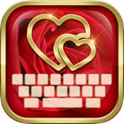 KeyCCM – Love In My Heart : Custom Colour & Wallpaper Keyboard Theme in the Valentine Sweet Style valentine