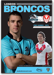 London Broncos Official Programmes