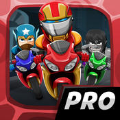 Comic Superhero Con-man Biker – Super Stunt of Steel Hero 2 Games PRO