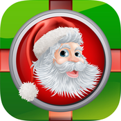 Santa`s Christmas Gift Button - My Santa Gift Certificate, Cards, and Rewards: Holiday Bells Songs