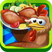 Chicken Hunt and Cooking Game - Real chicken hunting in poultry farm and crazy kitchen adventure game for kids with best recipes chicken pie recipes