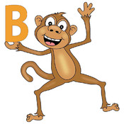 Math Game with Monkey Alphabet
