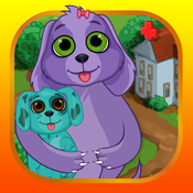 Dog Mommy's New Baby Doctor - newbie nursing mommy birth of a newborn babycare girl games
