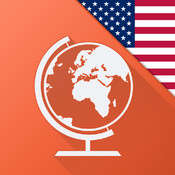 Speak American English FREE - Interactive Conversation Course - learn a language with Mondly: vocabulary lessons and audio phrases for travel, school, business and speaking fluently
