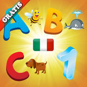 Italian Alphabet for Toddlers and Kids : Learn Italian language , letters and numbers ! FREE game italian
